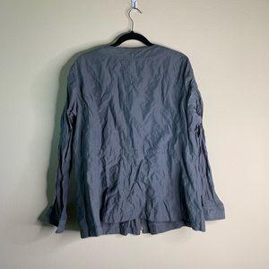 eileen fisher light weight grey jacket size 2x